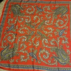 Silk paisley red scarf
